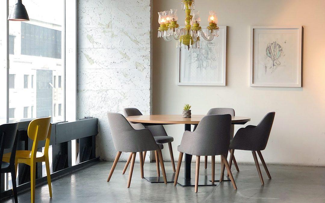 Nordisk stil i köket eller matsalen